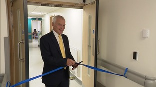 Professor Keith Willett opens a new unit at the James Paget Hospital