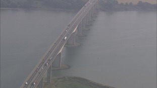 The Orwell Bridge on the A14 in Suffolk has been closed due to high winds.