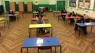 Parents at St John the Evangelist RC Primary School in Billingham