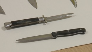 Weapons handed in to Hampshire Police
