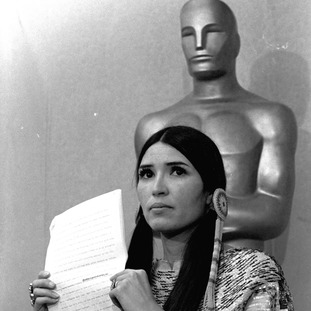 Native American actress and activist Sacheen Littlefeather was sent by Marlon Brando to reject his Oscar in 1973.