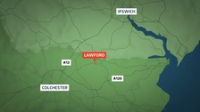 The man died at the scene of the crash in Lawford