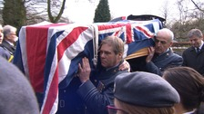 Hundreds attend war veteran's funeral