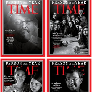 Time Person of the Year 2018 goes to journalists it called 'The Guardians'.