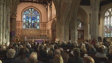Mourners at memorial service held at St Nicholas Church in Newbury