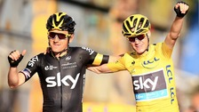 Team Sky's Chris Froome (right) and Geraint Thomas in 2015.