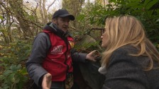 'The grave of my old life' - former homeless man revisits his old tent