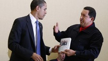 President Hugo Chavez gave Obama a book 'The Open Veins of Latin America' when they met in 2009