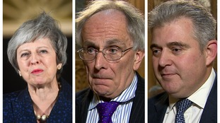 Peter Bone (centre) and Brandon Lewis (right) have both given their reaction to the vote.