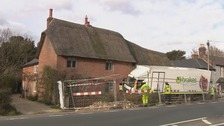 Grade II-listed cottage in New Forest smashed by a lorry