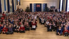 Primary school aiming for Christmas #1 edge closer to top