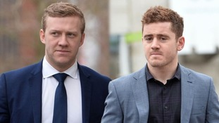 Stuart Olding (left) and Paddy Jackson