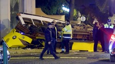 Dramatic Lisbon crash after tram derails and smashes into building