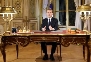 French President Emmanuel Macron has appealed for calm
