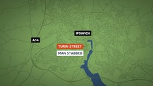 Murder investigation after man stabbed in Ipswich