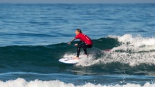 Visually impaired Cornish surfer makes history