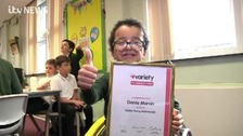 A special award for 10-year-old Dante