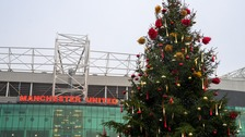 Christmas Tree outside Old Trafford