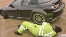 Police in Kent carry out safety checks on cars