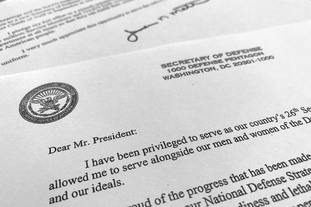 Part of Defence Secretary Jim Mattis's resignation letter to Donald Trump