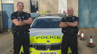 PC James Ireland and PC Dan Bellingham.