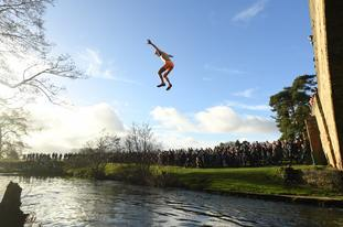 In Derbyshire, the Mappleton Bridge Jump is an annual tradition