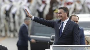 Far-right former army captain Jair Bolsonaro sworn in as President of Brazil
