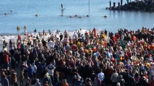 Thousands also turned out at Lyme Regis, England to participate in the annual event.
