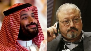 Saudi Arabia's crown prince Mohammad bin Salman (left) was heavily criticised following the death of dissident journalist Jamal Khashoggi.