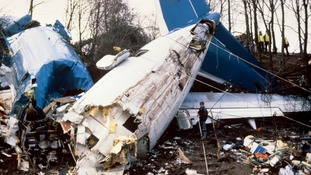 The tail section of the wrecked British Midlands Boeing 737