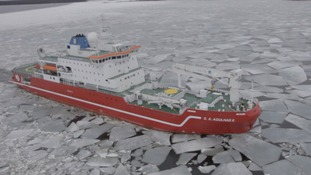 A modern research vessel is in Antarctica doing scientific research but also hopes to find Shackleton's wreck.