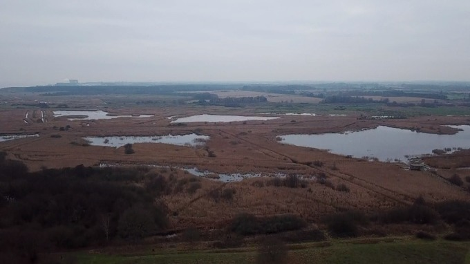 RSPB Minsmere lies a stone's throw from Sizewell A & B