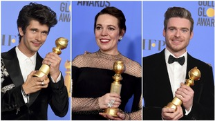 Olivia Colman, Richard Madden and Christian Bale among British winners at the Golden Globes
