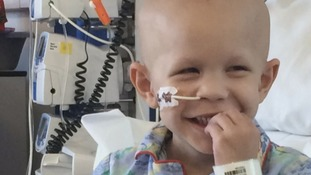 The five-year-old travelling abroad for experimental cancer treatment