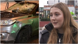 Woman 'absolutely petrified' after near miss with car that ploughed into nightclub