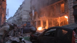 Firefighters among three killed in explosion at Paris bakery 'caused by gas leak'