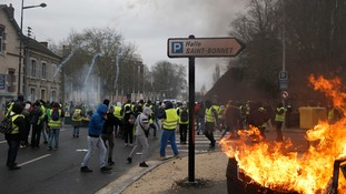 Yellow vest marches also took place in Bourges, central France.