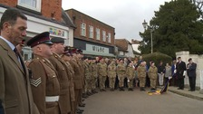 There was a big turnout for the service in Hitchin.