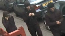 CCTV footage shows 'vile' gang robbery of elderly woman