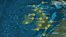 Weather: Heavy rain moving southeast with some hill snow