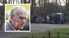 Prince Philip uninjured after car crash near Sandringham