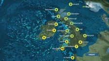 A cold day for much of the UK on Friday