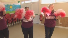 "Cheerleading for over 60s: ""It's helped with keeping me stable"""