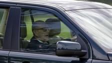 Prince Philip spotted 'driving without a seatbelt' 48 hours after crash