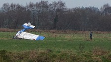 Two in hospital after light aircraft crashes in Co Londonderry