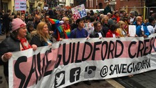 Hundreds march to save Cardiff's Guildford Crescent