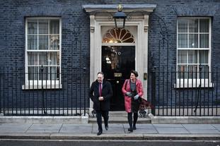 DUP deputy leader Nigel Dodds and DUP Leader Arlene Foster met the Prime Minister