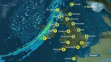 Weather: Bright but cold day punctuated by heavy rain
