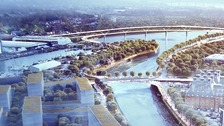 Artist's impression of the planned Upper Orwell Crossings project which has now been scrapped.