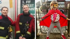 Firefighters show four-year-old girl women can tackle blazes too
